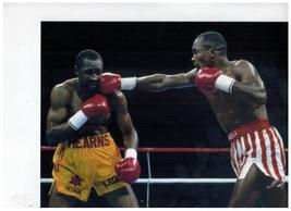 Thomas Hearns Sugar Ray Leonard 1989 18X24 Color Boxing Memorabilia Photo - $34.95