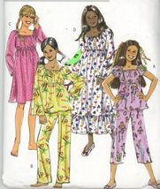 Butterick B4913 Girls Top Pants and Gown  Boho Easy Sew - UNCUT SZ 12-14... - $2.00