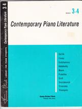 CONTEMPORARY PIANO LITERATURE BOOKS 3-4 - FRANCES CLARK - $7.00