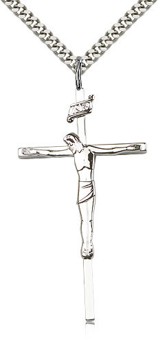 Crucifix - Sterling Silver Medal Pendant - 0030