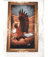 1978 American Bald Eagle Black Velvet Painting - $74.95