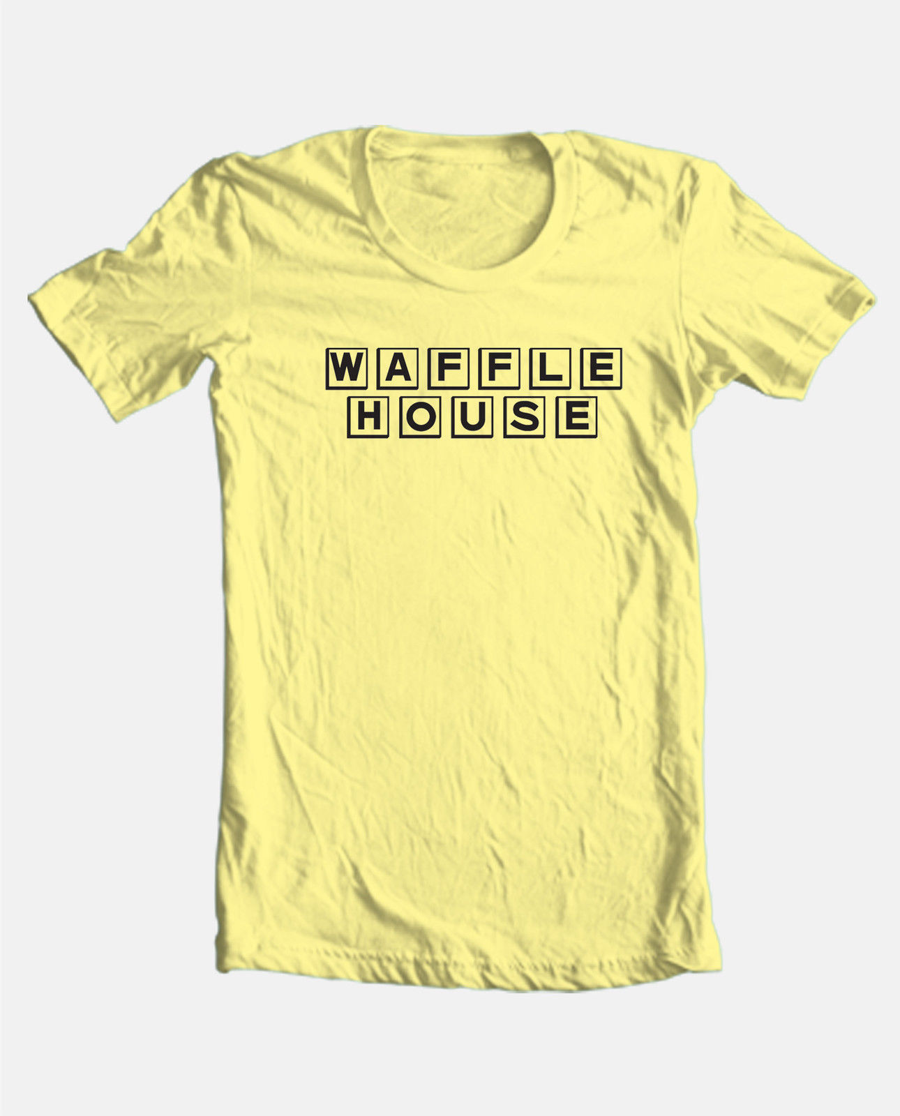 Waffle House T-shirt retro 80's fast food 100% cotton graphic mens tee