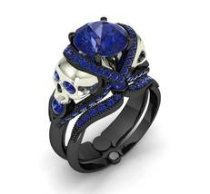 Skull Engagement Ring Set in Black Rhodium Over - $299.00