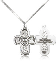 FIVE WAY Medal - Sterling Silver Medal Pendant - 0041