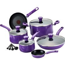 Cookware Set 14 Piece Nonstick Thermo Spot Kitchen Purple - $89.31