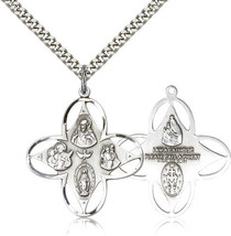 FOUR WAY MEDAL - Sterling Silver Medal Pendant- 0039