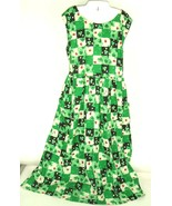 VTG Handmade House Dress Plus Sz XL Sleeveless Shamrocks Ladybug lucky k... - $79.15