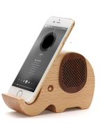 Wooden Elephant Shaped Bluetooth Speaker Mobile Display Stand - $63.00