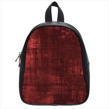 Red Paint Patterned Leather Kid's School Bag / Children's Backpack - $33.94+