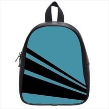 Stripes Teal Leather Kid's School Bag / Children's Backpack - $33.94+