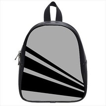 Stripes Gray Leather Kid's School Bag / Children's Backpack - $33.94+