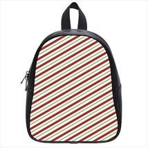 Stripes Tangerine Leather Kid's School Bag / Children's Backpack - $33.94+