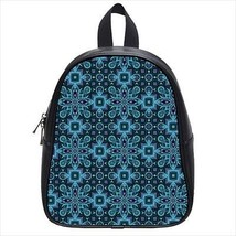 Abstract Blues Leather Kid's School Bag / Children's Backpack - $33.94+