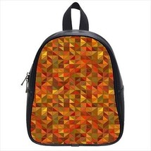 Trianglar Squares Leather Kid's School Bag / Children's Backpack - $33.94+