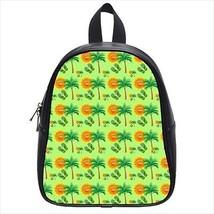 Tropical Summer Leather Kid's School Bag / Children's Backpack - $33.94+