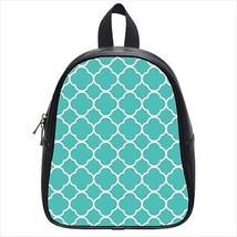 Turquoise Foil Leather Kid's School Bag / Children's Backpack - $33.94+