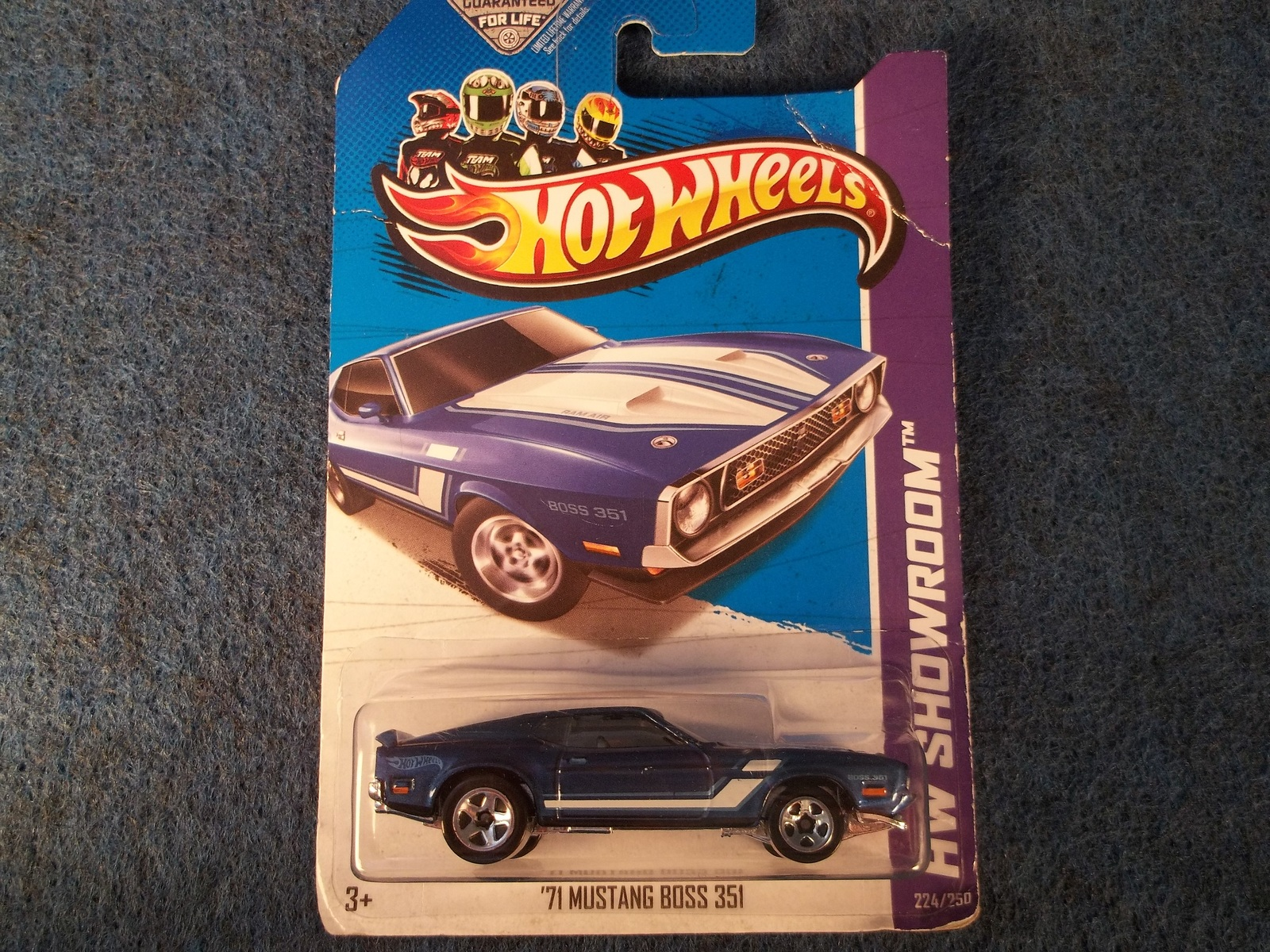 Hot Wheels `71 Ford Mustang Boss 351 Then and Now `13 HW blue HotWheels 5sp