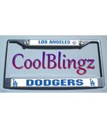 la dodgers license plate frame crystal bling 2095