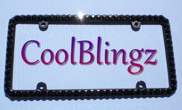 Big JET BLACK Rhinestone Crystal Bling License ... - $20.95