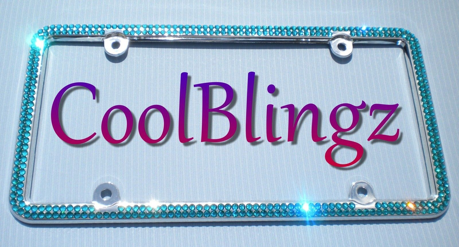2 Row TURQUOISE Crystal License Plate Frame and 50 similar items