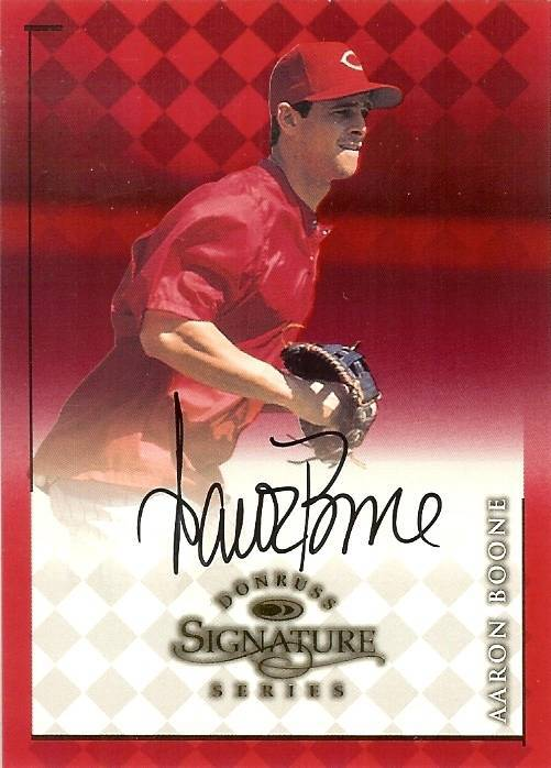 Primary image for 1998 donruss signature arron boone  autograph reds baseball card