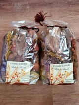 NOS Yankee Candle Autumn Wreath Fragranced Potpourri 2 bags Never Opened 2010 - $19.79