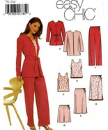 Simplicity 9630 UNCUT Misses Lined Jacket Top Skirt Pants or Shorts SZ 1... - $5.50