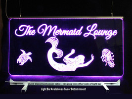 Mermaid, Personalized LED Man Cave Sign- Garage Sign, Bar sign - $96.03+
