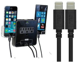 RND Wall Power Station and (2) Apple Certified Lightning to USB Cables (... - $43.99