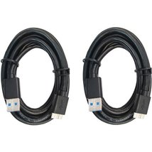 RND USB 3.0 Fast Super Speed Cable (6 feet/Black)(Bundle of Two) - $14.99