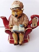 Blue Sky Clayworks Ceramic Honey Bear Christmas Holiday Collection Tea poT - $49.49