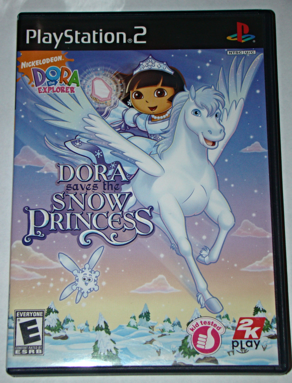 Playstation 2 - 2K Play - DORA saves the SNOW PRINCESS (Complete with Manual) - $12.00