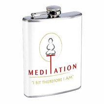 Meditation Em1 Flask 8oz Stainless Steel Hip Drinking Whiskey - $13.81