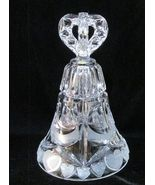 Hofbauer Tall Dinner Bell 24% Lead Crystal Made in W. Germany - $11.90