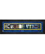 Personalized McNeese State University Campus Letter Art Framed Print - $39.95