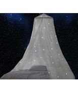 Bed Canopy with Fluorescent Stars Glow in Dark for Baby, Kids, Girls Or ... - $46.99+
