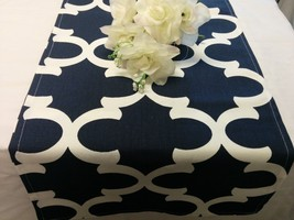 MOROCCAN TABLE Runner- Colors-Napkins, or Placemats Quatrefoil Linens, N... - $6.50