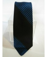 FAB Vtg 1950s Damon Black & Blue Checker Stripe Swing Rockabilly VLV Tie... - $24.25