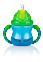 Nuby, Two-Handle Flip N' Sip Children's 360 degree Straw Sippy Cup, 8 Ou... - $16.99