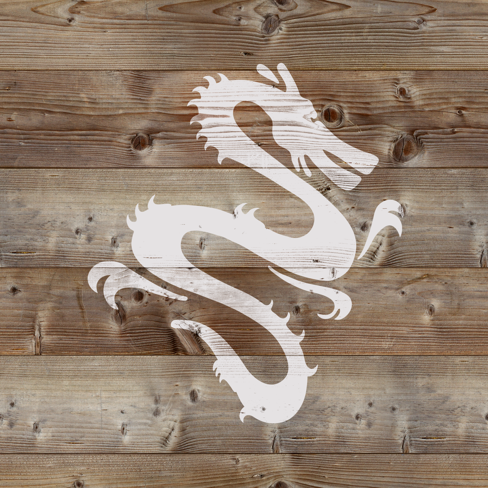 Chinese Dragon Stencil - Reusable Stencils of Chinese Dragon in Multiple Sizes