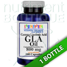 GLA (Gamma Linolenic Acid) 800mg 200 Caps by Vitamins Because - $13.51