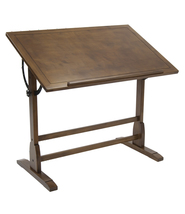 "Offex Office Vintage Drafting Desk 42"" - Rustic Oak - $447.99"