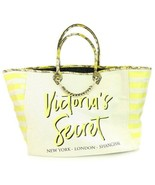 Victoria's Secret Canvas and Yellow Snake Print New York London Shanghai... - $23.74