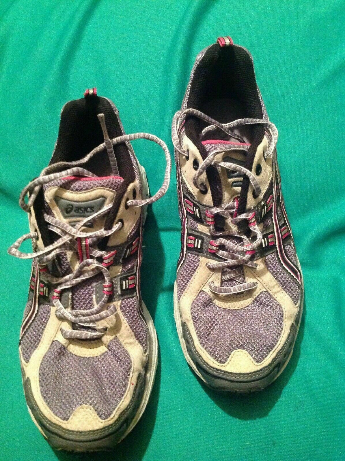 ASICS 9M WOMEN'S GEL ENDURO 5 RUNNING ATHLETIC SHOES SNEAKERS T9C9N GRAY GUC