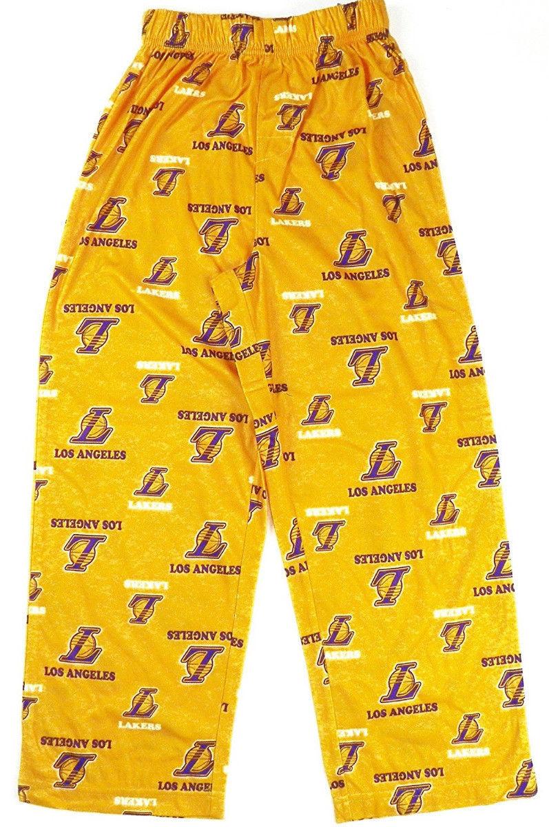 Boy's 8-20 Los Angeles Lakers Pajama Pants Sleep Lounge NBA Basketball Yellow