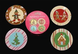 "4 World Market Holiday Passport GINGERBREAD Thick Ceramic 8"" Dessert Pla... - $44.99"