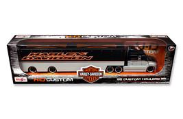 Harley Davidson Custom Hauler Trailer Grey 1/64 Diecast Model by Maisto - $50.99