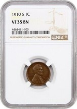 1910-S 1c NGC VF35 BN - Lincoln Cent - $58.20