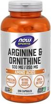 NOW Sports Nutrition, Arginine & Ornithine 500/250 mg, Amino Acids, 250 ... - $79.71