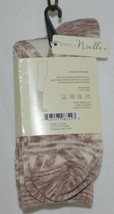 Simply Noelle Cream Tan Crew Sock One Size Fits Most image 2